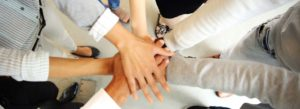 Header - Employee Benefits Hands in Circle
