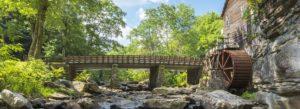 Header - West Virginia, Pennsylvania and Ohio Landscape with Bridge
